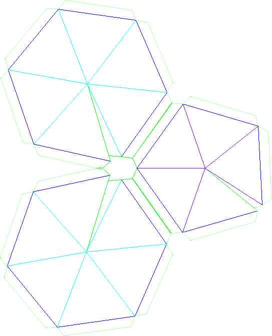 Build a thin skin geodesic for Geodesic dome template